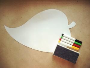 Магнитная доска на холодильник «ЛИСТ» (40 X 27 см)  Начинай каждый день с чистого листа, чтобы затем сразу писать и рисовать